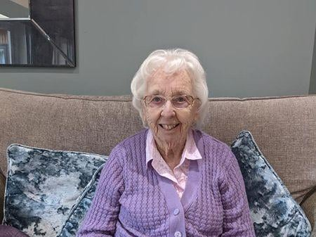 Ashby Care Home resident, Jean
