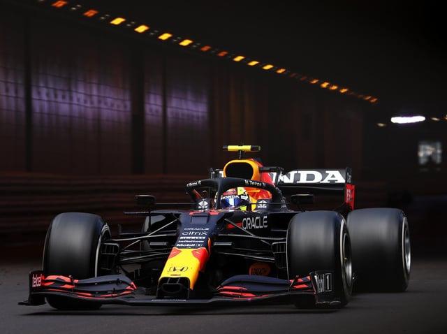 Sergio Perez exiting the Monaco tunnel