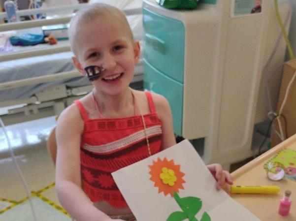 Poppy has spent much of lockdown in hospital