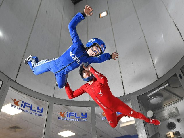 iFly indoor skydiving at Xscape