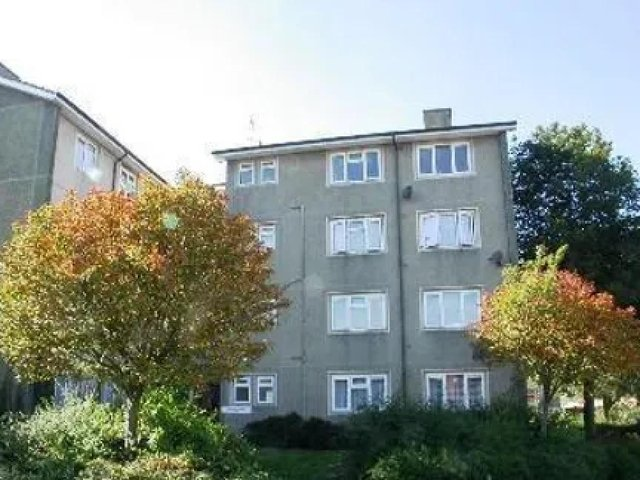 Lanark House flats in Bletchley