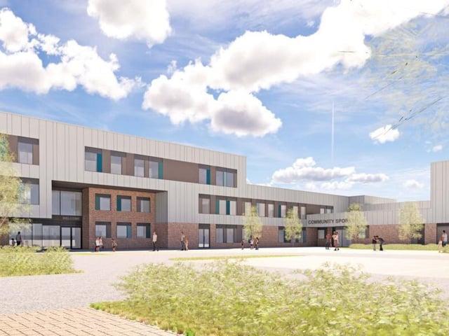 Artist's impression of the new school