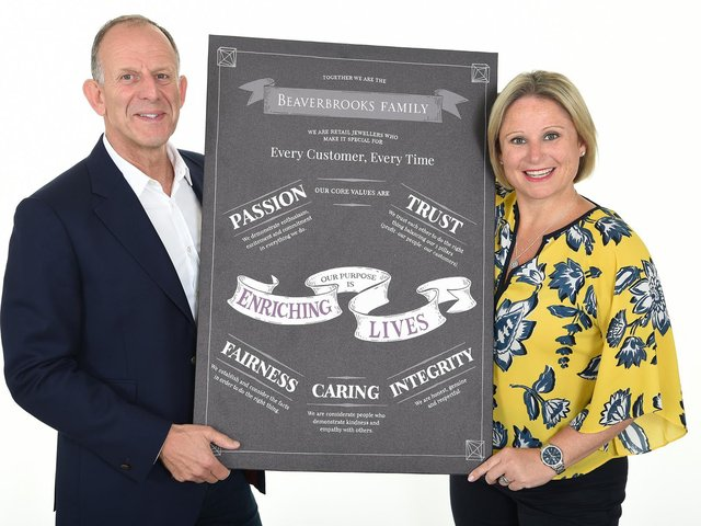 Anna Blackburn and Mark Adelstone from Beaverbrooks with the award