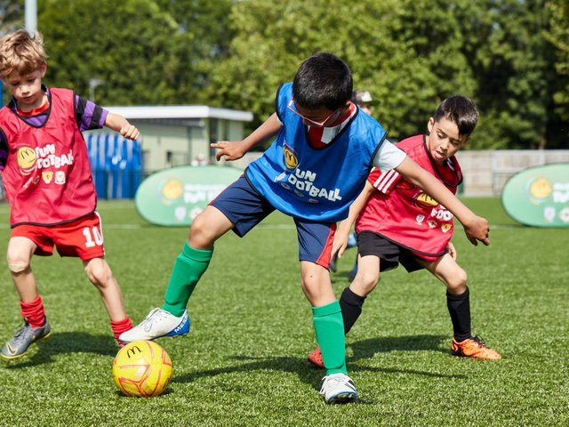 The McDonald's fun football sessions are a great opportunity for youngsters