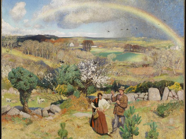Dame Laura Knight, Spring in Cornwall, Oil on canvas 1914-35, Tate (c) Tate Images