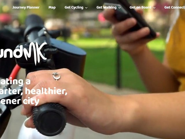 the new sustainable travel website for Milton Keynes