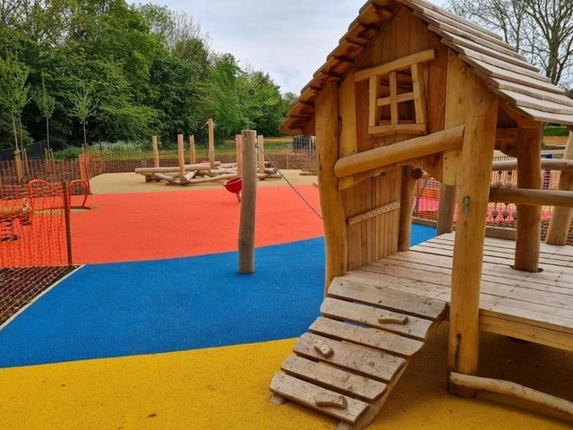 The new play area at Great Linford Manor Park