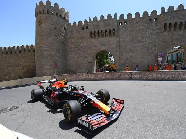 Sergio Perez led the way in Azerbaijan on Friday
