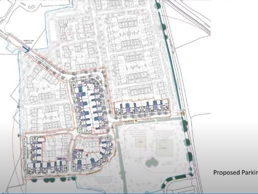 Plans shown to the development control committee