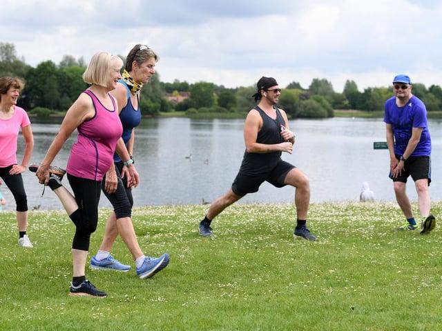 Parks and Run at Caldecotte Lake