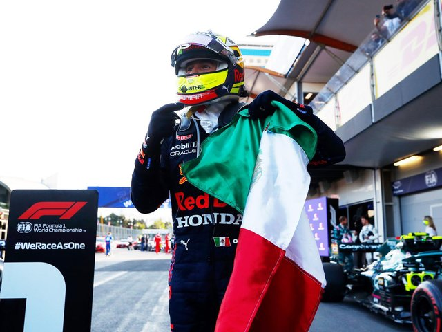 Perez won on his sixth outing for Red Bull