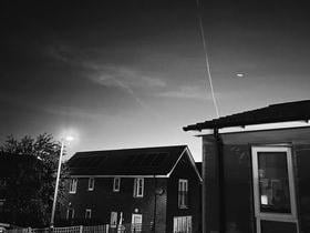 Timfy's photo showed a strange object in the sky