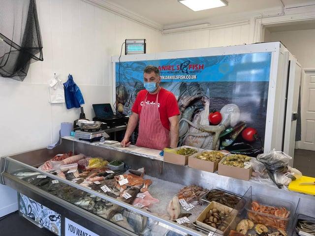 Daniel in his shop