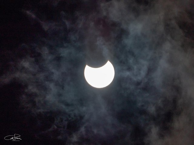 The eclipse in MK this morning. Photo: Gill Prince Photography