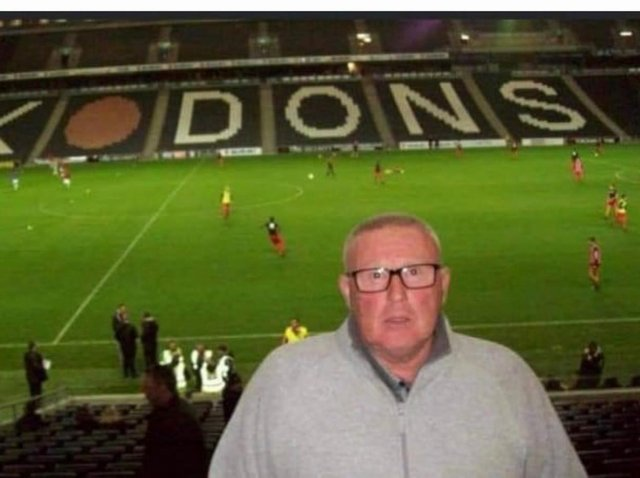 Donald  pictured during a visit to MK Stadium