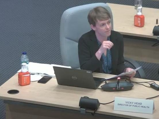 Vicky Head, director of public health