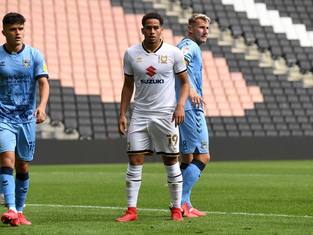 Sam Nombe made seven appearances for Dons last season before being loaned ot Luton