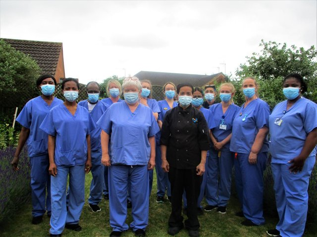 Bluebirds Care neurological care centre staff including centre manager, Colleen Brothers