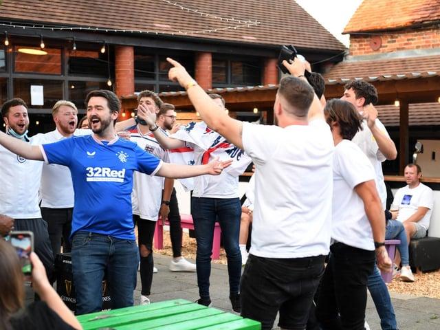 England fans were in good voice in Milton Keynes on Saturday