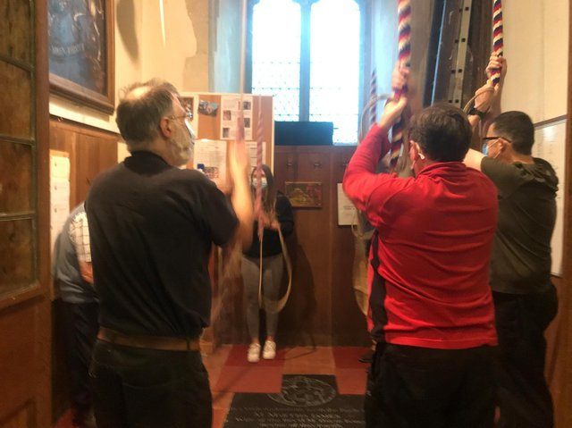 The bellringers at St Mary's