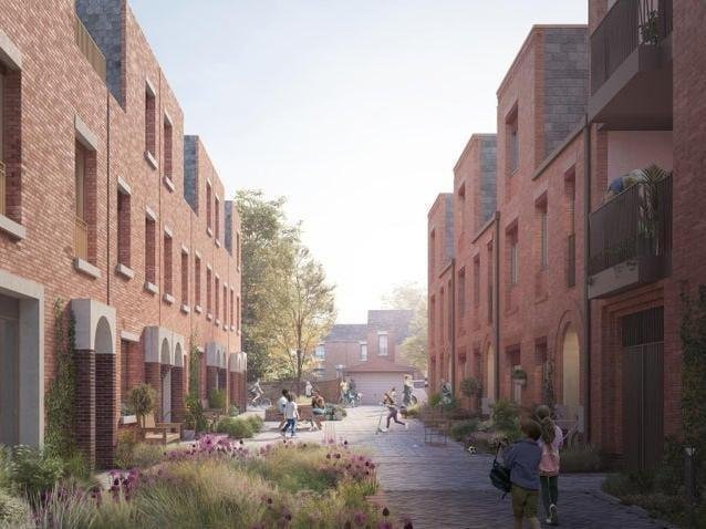 Artists' impression of the new housing