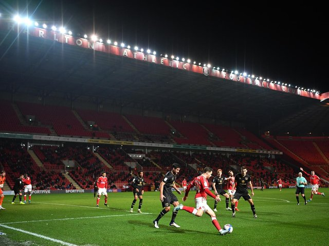 Dons' best performance of the season came away at Charlton last season in front of 2,000 at The Valley