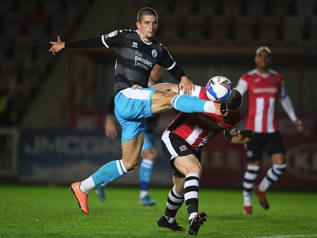 Max Watters in action for Crawley