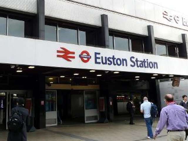 Commuters are stuck in London with trains unable to leave Euston