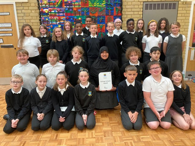 Pupils from Moorland Primary composed a song with The Young'uns