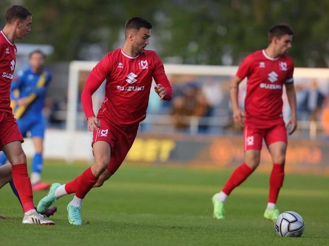 Daniel Harvie in action on Tuesday against King's Lynn