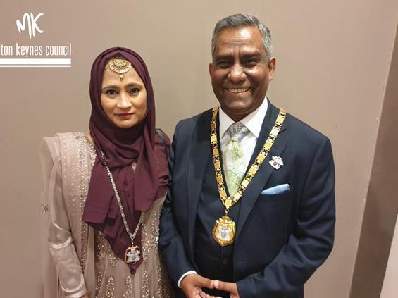 Mayor Mohammed Khan and Mayoress Lilipa Aktar
