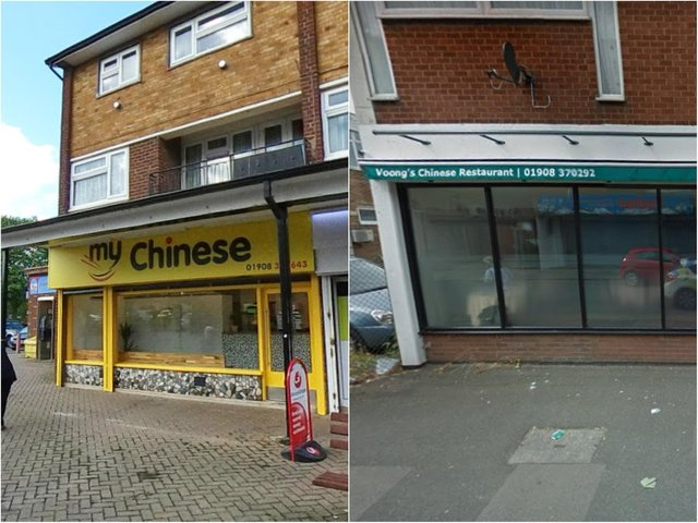 My Chinese and Voongs Chinese Restaurant are among the best ten Chinese eateries in the Milton Keynes area, readers think.